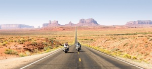 Eagle Rider bikes in Monument Valley