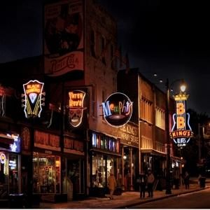 Memphis Beale Street night