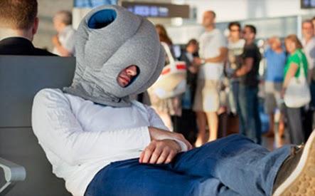 Travel pillow - Ostrich