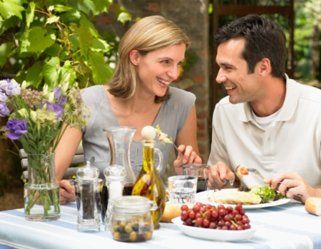 Food, Dining out couple