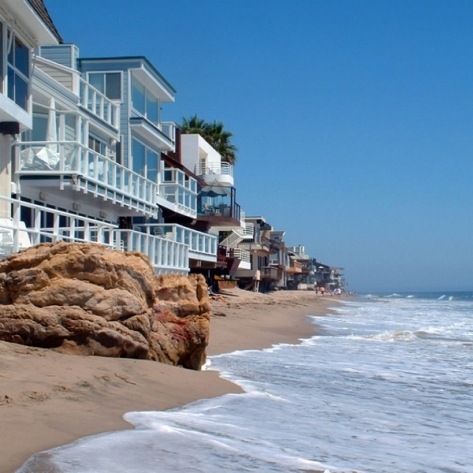 Malibue beach & houses CA