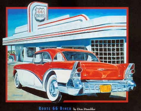 Route 66 diner retro