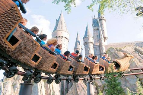 Harry Potter roller coaster Hippogriff
